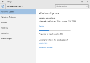 Windows Update 1511